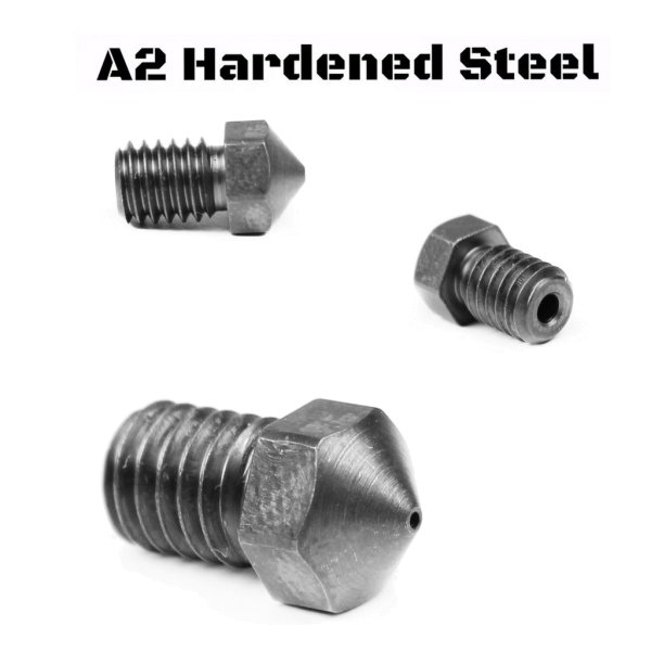 Nozzle A2 RepRap - M6 Thread 1.75mm Filament (E3D V5-V6, Prusa i3 MK2, Creality CR-10)