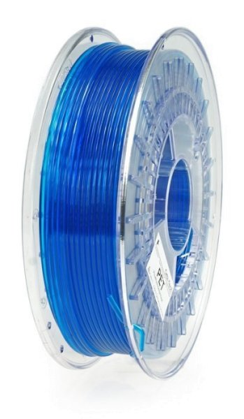 PET Filament, 3 mm, 750 g Blau-Transparent