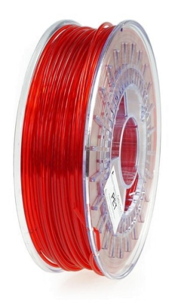 PET Filament, 3 mm, 750 g Rot-Transparent