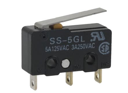 Mechanischer Mikroschalter SS-5GL-F mit Hebel Endstop