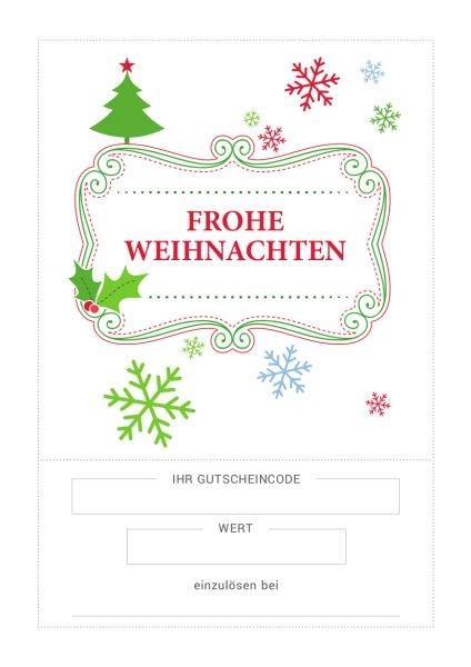 Weihnachtsgutschein 11€