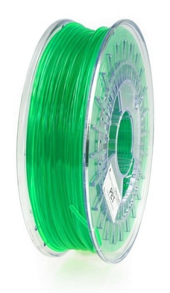PET Filament, 1,75 mm, 750 g Grün-Transparent