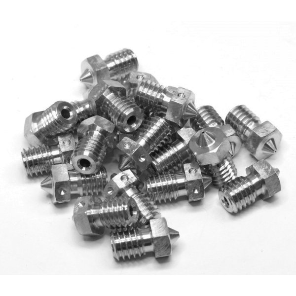v6 Extra Nozzle - Stainless Steel - 3mm x 0.8mm