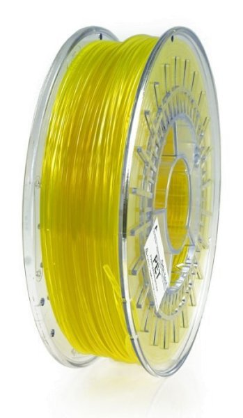 PET Filament, 1,75 mm, 750 g Gelb-Transparent