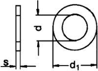 Unterlegscheiben Form A (ohne Fase) M12