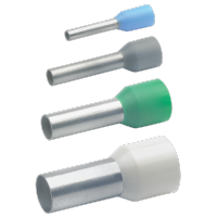 20x Isolierte Aderendhülsen nach DIN mit Easy-Entry, Farbcode 2
