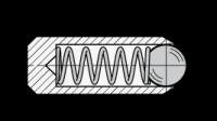 GN 614.3 Federnde Edelstahl-Druckstücke Ø4 ohne Gewinde, mit Kugel